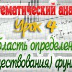 Область определения (существования) функции. Практикум по математическому анализу. Урок 4