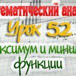 Максимум и минимум (экстремум) функции. Практикум по математическому анализу. Урок 52